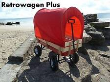 Retrowagen + Canopy + Pad Pull along retro wagon with anti-tip  flyer radio ride