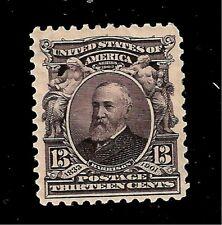US 1903 Sc # 308  13 c  William Harrison - Mint HR - Crisp  Color - Centered