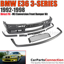 BMW E36 3-Series 92-98 M3-Style Front Bumper Cover Lip Conversion Kit