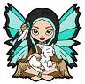 2016 - 39611 Fairy Wolf Cub pathtag Mini Shape (geocoin alt) geocaching swag