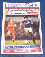 IPSWICH TOWN HOME PROGRAMMES 1985-1986