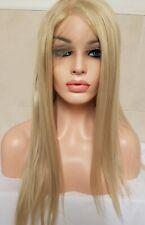 Short Bob Light Bleach Blonde 613 Real Human Hair Wig Transparent Lace Front
