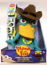 """Phineas and Ferb Transforming 11.5"""" Perry Plush NIB Disney toys"""