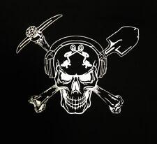 GOLD DIGGER Miner Prospector Prospect pan SKULL PICK & SHOVEL T-Shirt M L XL XXL