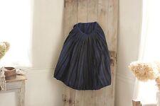 Vintage Dutch workwear Skirt Indigo blue hand woven wool blue black