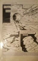 TMNT Adventures #10 original comic art page  1 1990 origin splinter