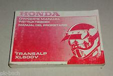 Owner´s Manual / Instruktieboek / Manual del propietario Honda XL 600 V 1992