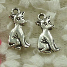 free ship 47 pieces Antique silver dog charms 21x10mm #3516