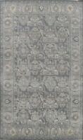 Geometric Ziegler Traditional Turkish Oriental Area Rug Wool Gray Carpet 7x10