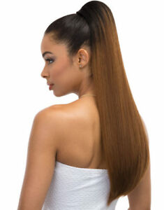Janet Collection Everytime Noir Drawstring Ponytail (Peach)