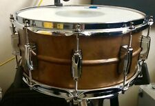 """Ludwig copper phonic raw snare drum 6.5 x 14"""" imperial lugs, Slightly Used"""