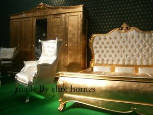 BESPOKE Designer Chatelet Bed with upholstery French style King queen orAny Size