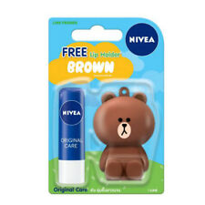 [NIVEA x LINE] BROWN Original Care Intensive Moisturizing Lip Balm 4.8g NEW