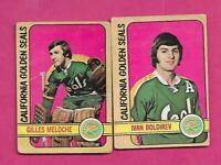 1972-73 OPC SEALS GILLES MELOCHE GOALIE RC + BOLDIREV RC  CARD (INV# C2201)