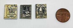 Dolls House Miniature Witch Spell Books (DD126) Additional Items P&P FREE