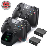 Dual Controller Quick Charge Dock Station w/ 2X Battery Pack for Xbox One S X