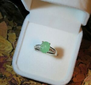 RARE! Genuine natural Green Paraiba Tourmaline silver ring + certificate 🍏