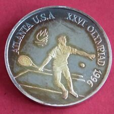 More details for romania 1996 tennis olympic games 100 lei silver proof pattern
