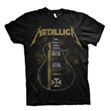 OFFICIAL LICENSED - METALLICA - HETFIELD IRON CROSS GUITAR T SHIRT METAL