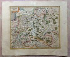 LITHUANIA 1619 GERARD MERCATOR/JODOCUS HONDIUS LARGE ANTIQUE ENGRAVED MAP