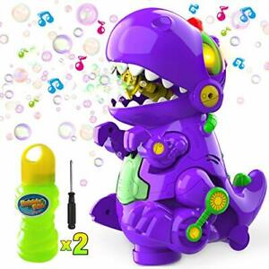WisToyz Bubble Machine Dinosaur Bubble Blower Walk & Stay Still Two Settings ...