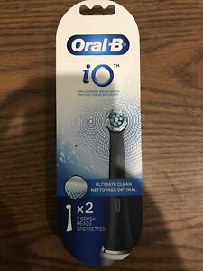 1 Of Brand New Oral-B iO (2-Pack) Ultimate Clean Replacement Brush Head - Black