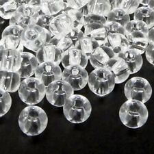 Rocailles-Perlen Transparent 100 Stück Glasperlen 6mm Bead zum Basteln Größe 3/0