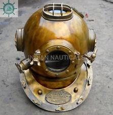 Antike US Navy Mark V Stahl Voll 18 Größe Tauchen Taucher Helm Replica Geschenk