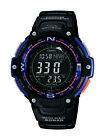 Casio Mens Quartz Compass Thermometer Black Resin 47.5mm Watch SGW100-2B