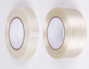 Filamentband Filament Glasfaser Klebeband Gewebeband Packband transparent NEU