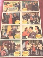 "1 SET OF 8  LOBBY CARDS FROM THE FILM "" WHEN YOU'RE SMILING "" WITH FRANKIE LAINE"