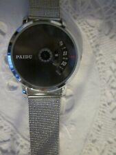 *NEW*PAIDU Mens/Teen/Women STYLISH Silver Mesh Band Dial Wrist Watch**XMAS Gift*
