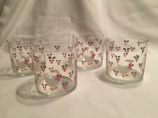 Set Of Four CHD Goose In Holly 1984 Christmas 16Oz Tumbler Glasses Beautiful