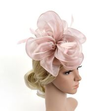 Handmade Large Women Feather Floral Hair Fascinator Hat Headband  Accessories New 89f5140eed5