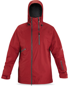New Dakine Washburn Shell Snowboard Jacket Men's Large Crimson Red