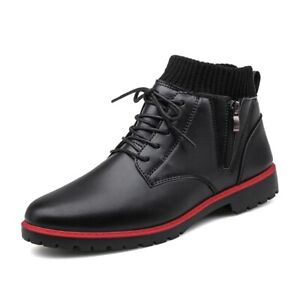 Mens Biker Walking Sports Outdoor High Top Workwear Motorcycle Ankle Boots Shoes