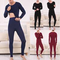 2Pcs/Set Men Winter Warm Thermal Underwear Tops Bottom Long Johns Pants Pajamas