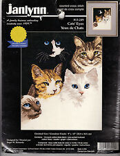 ** COUNTED CROSS STITCH KIT JANLYNN #13-249 CAT'S EYES
