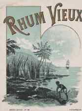 """""""RHUM VIEUX"""" Etiquette-chromo originale F. NOLASQUE fin 1800"""