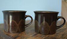 Pair of mugs / cups Royal Doulton Stoneware: Marbella L.S. 1004; Brown; 1970's