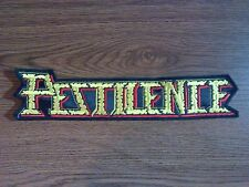 PESTILENCE,SEW ON EMBROIDERED LARGE BACK PATCH