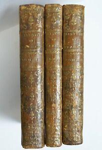 Nouvel Abrege Chronologique De L'Histoire De France, 3 Vols Full Leather, 1768