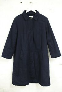 TOAST Women's Long Blue Quilted Cotton Coat Size 12