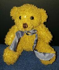 Teddy mit blauer Schleife - inkl. Einkaufschip und Karabiner - Michel Toys