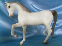 "Vintage rare 1986 Breyer Reeves White Arabian Show Horse Pony animal 8"""