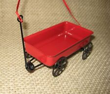 Red Metal Childs Wagon Christmas Tree Ornament Midwest CBK