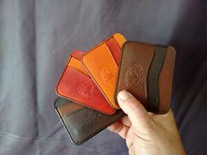 Minimalist front pocket wallet, card holder, 4 cards plus 1 cash slot UK made