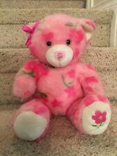 Build A Bear Season of Hugs Plush Pink Flowers Teddy w Sound Button Stuffed Toy