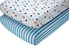 Disney Mickey Mouse Baby  Crib Fitted  Sheet Set, 2 Count   (2 Patterns)