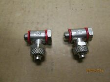 NEW OTHER, CAMOZZI 1521-8/6-1/8 SINGLE ADJUSTABLE BANJO FITTING, 2 PC'S X LOT.